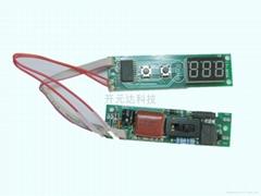 帶數碼管顯示直發器控制板