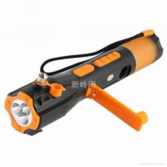 多功能安全锤电筒收音机