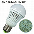 9W E27 SMD3014 led bulb light