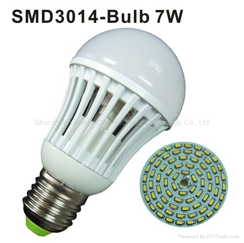 9W E27 SMD3014 led bulb light  2