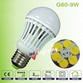 9W E27 SMD3014 led bulb light  3
