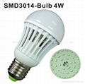 9W E27 SMD3014 led bulb light  5
