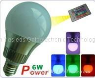 3W 6W E27 LED RGB dimming bulb light
