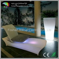 LED Light Deckchair for Beach