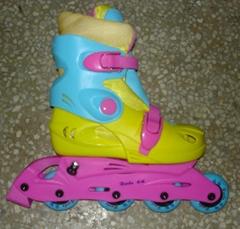 four wheels in line skates