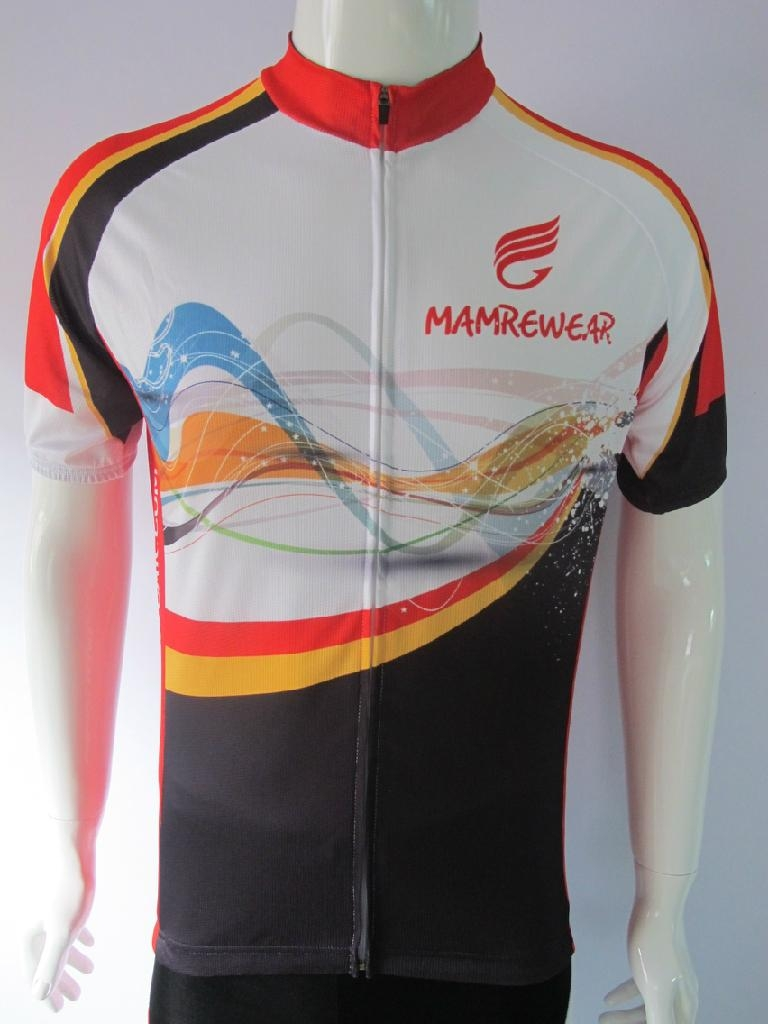 high quality short sleevecycling jersey with sublimation printing 1