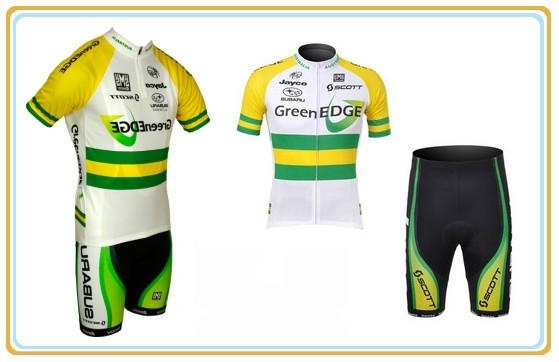 OEM green and yellow cycling suits with qulity lycra 1