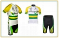 OEM green and yellow cycling suits with