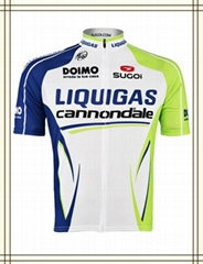 oem white short sleeve cycling jersey with sublimation printing