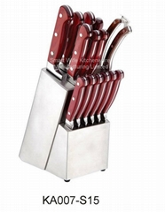 Home kitchenware utensils wood handle knife set