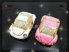 合金镶钻小汽车首饰盒