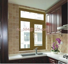 Aluminum Wood Off-bridge Outdoor Casement Windows(AN758 )