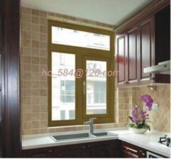 Aluminum Wood Off-bridge Outdoor Casement Windows(AN758 )