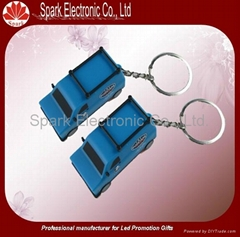 OEM car led keychain with projector custom logo 2013 newest products
