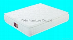 Double pillow top continuous spring mattress