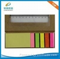 Recycle sticky notes with PP ruler