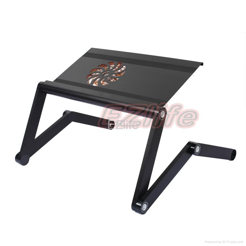 New Design Aluminium Laptop Desk With Cooling Fan 3