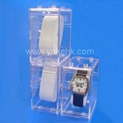 Can overlap Transparent watch box