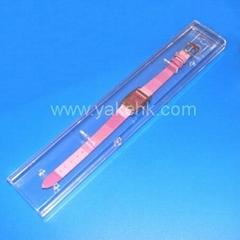 plastic Transparent long watch box