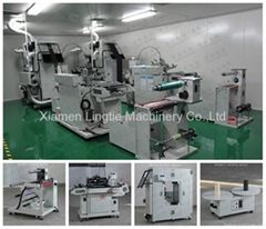 Automatic reel to reel adhesive label screen printing machine made in Xiamen