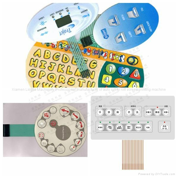 Membrane Key board Switches Automatic Reel Screen Printing Machine 5