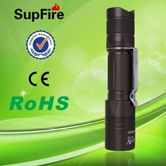 強光手電筒A6-T6(S10升級版,T6燈泡帶腰帶夾,U型尾部設計)