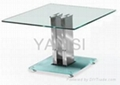 stainless steel and tempered glass