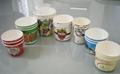 disposable ice cream cups with dome lids 2