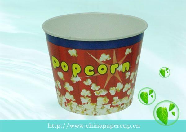 disposable paper popcorn bucket, paper fried chicken bucket 1