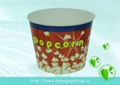 disposable paper popcorn bucket, paper
