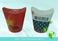 disposable paper popcorn bucket, paper fried chicken bucket 2