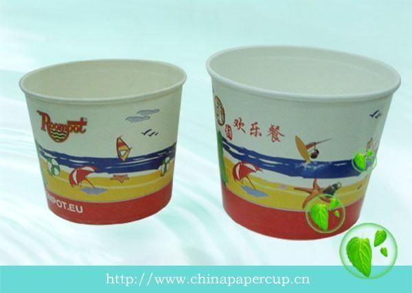 disposable paper popcorn bucket, paper fried chicken bucket 3
