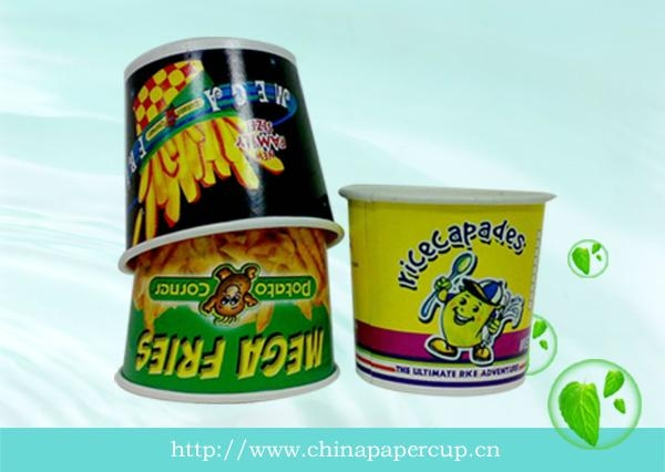 disposable paper popcorn bucket, paper fried chicken bucket 4