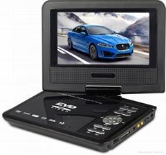 7寸移動電視EVD全功能帶TV便攜式DVD影碟機