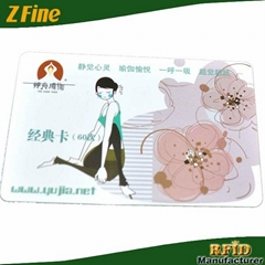 RFID F08 PVC card with 13.56Mhz