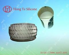 Platinum cured silicone rubber for tire molds