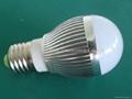 Aluminum LED Global Light Bulb 110V 3W