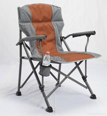 Deluxe Oversized Padded Garden Chair with Solid Armrest