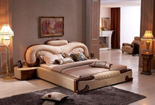 Luxury Leather Soft bed A2006 1