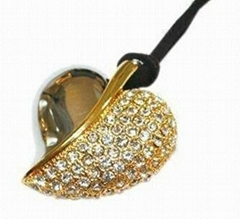 Promotional Jewelry Heart USB Flash Drive, High-level Client to Promote Products