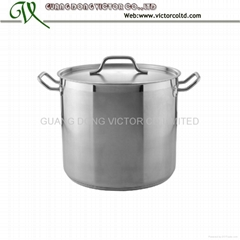 High quality heavy stainless steel stock pot