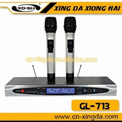 GL-713 Popular and Professional wireless microphones karaoke