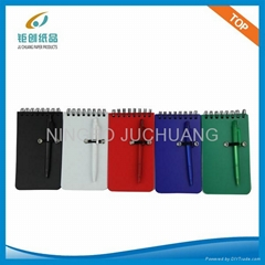 84K PP COVER SPIRAL NOTEPAD WITH PEN JC-NB/B8401Z