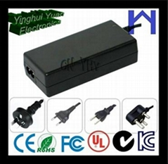 single output AC100-240V power supply 24voltage 3.5Amps 84watt DC connector 5.5*