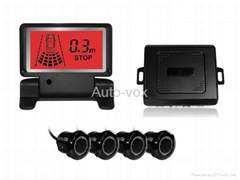 LCD display reverse parking sensor radar detector system