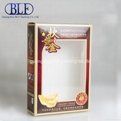 Paper box with PVC window (BLF-PBO001)