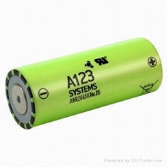 New Arrival!!!LiFePo4 A123  ANR26650M1A 3.2V 26650  Battery Cell