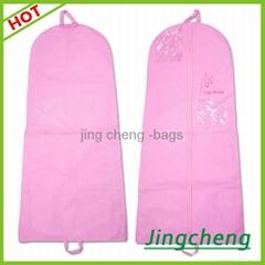 pink color wedding dress dustproof bag