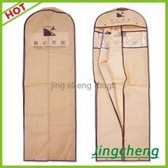 brown color wedding dress garment  bag