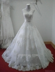 PRONOVIAS valentino French lace v-neck trailing live-action wedding dresses